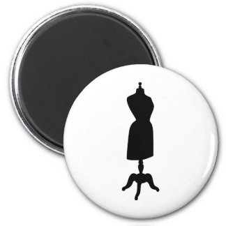 Victorian Dress Form Silhouette 6 Cm Round Magnet