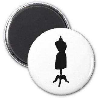 Victorian Dress Form Silhouette 6 Cm Round Magnet