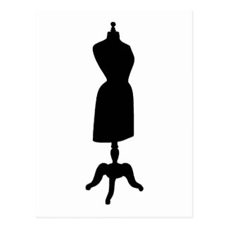 Victorian Dress Form Silhouette Postcard