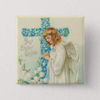 Victorian Easter Angel Button