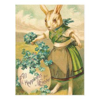 Victorian Easter Bunny Postcard