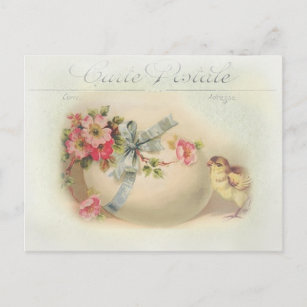 Victorian french easter gifts gift ideas zazzle uk victorian easter chic and egg christmas postcard negle Choice Image
