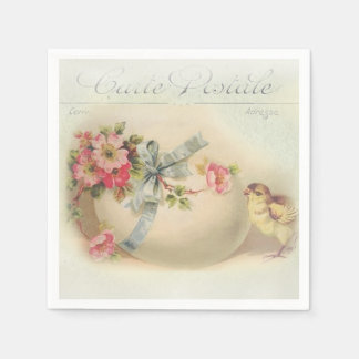 Victorian Easter chic and egg Disposable Napkins