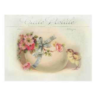 Victorian Easter chic and egg Postcard