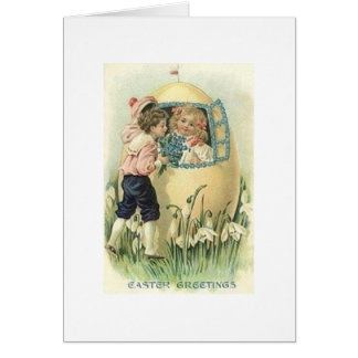 Victorian Easter Egg House Easter Card