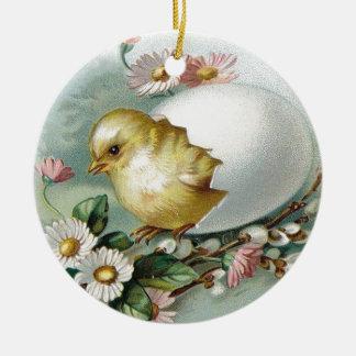 Victorian Easter Ephemera Christmas Ornament