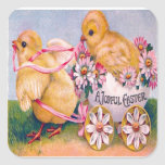 Victorian Easter Square Stickers