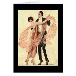 Victorian Edwardian Couple Dancing Card