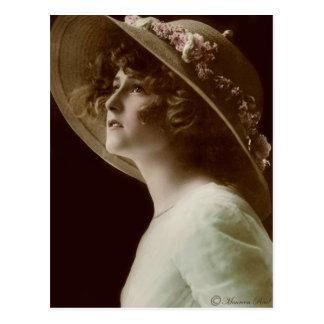 Victorian Edwardian Sepia Hand Tinted Postcard 2