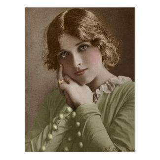 Victorian Edwardian Sepia Hand Tinted Postcard 6