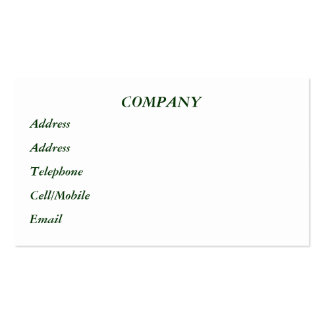 VICTORIAN ENGLAND PACK OF STANDARD BUSINESS CARDS