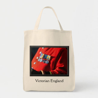 VICTORIAN ENGLAND GROCERY TOTE BAG