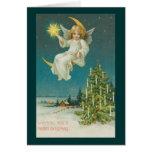 Victorian Era Angel Christmas Card