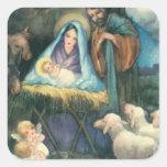 Victorian Era Nativity Sticker