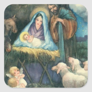 Victorian Era Nativity Sticker