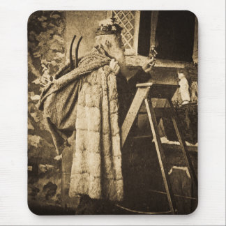 Victorian Era Santa Vintage Stereoview Mouse Pad