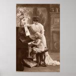 Victorian Era - The Piano Lesson Print