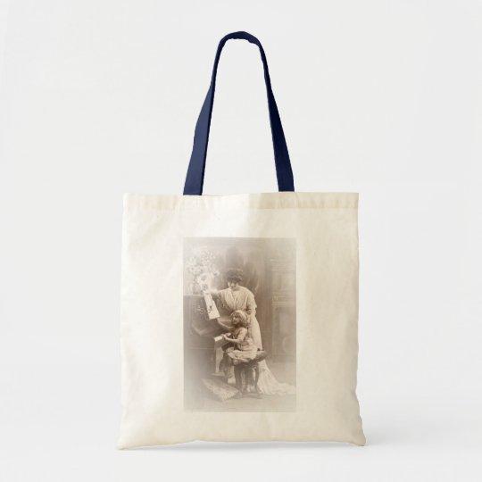 Victorian Era - The Piano Lesson Tote Bag
