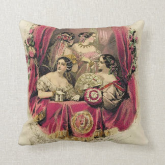 Victorian Era Women's Fashion Cushion