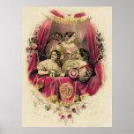 Victorian Era Women's Fashion Poster