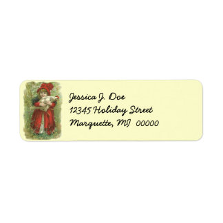 Victorian Farm Girl chicken Return address Label