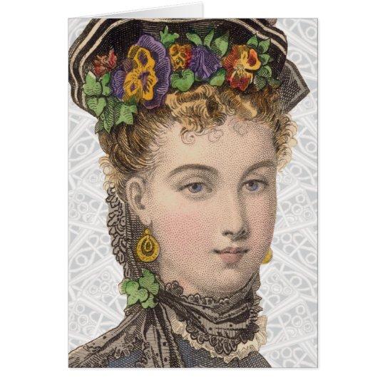 Victorian Fashion Illustration - Greeting Card