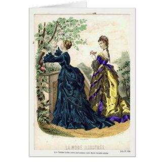 Victorian fashion plate card