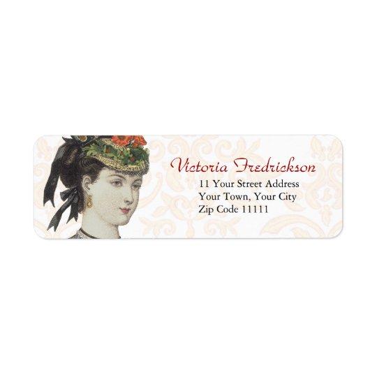 Victorian Fashion Plate Detail - Beautiful Lady
