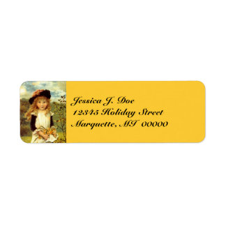 Victorian Fashions Daffodil Return address Label