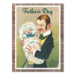 Victorian Father's Day Postcard