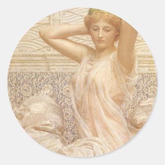 Victorian Fine Art, Silver by Albert Joseph Moore Classic Round Sticker