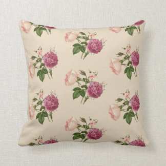 Victorian Floral Pillows : Victorian Pink Rose Cushions - Victorian Pink Rose Scatter Cushions Zazzle.co.uk