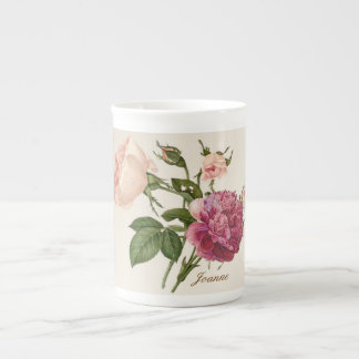 Victorian Floral Personalised Bone China Mug