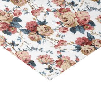 Victorian floral rose pattern tissue paper