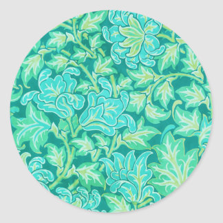 Victorian Floral Wallpaper Pattern Classic Round Sticker