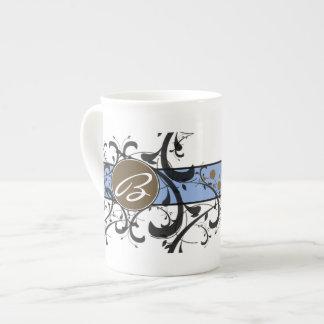 Victorian Flourish Monogrammed Bone China Mug