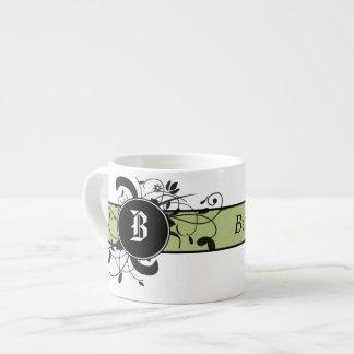Victorian Flourish Monogrammed Espresso Mug