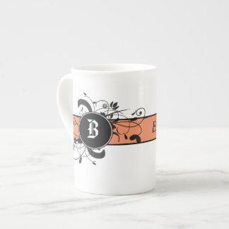 Victorian Flourish Monogrammed Tea Cup