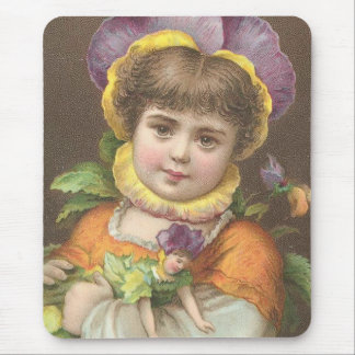 Victorian Flower Child Mouse Pad