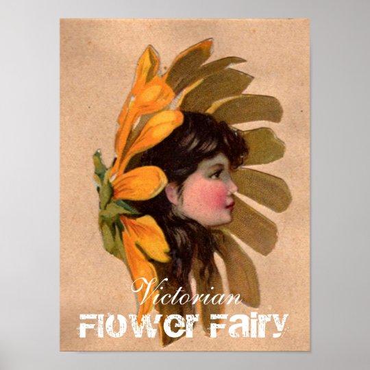 Victorian Flower Fairy Poster