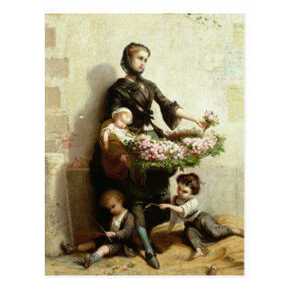 Victorian Flower Seller Postcards