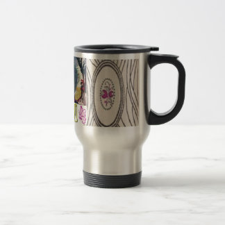 Victorian Flowers Stainless Mug Two