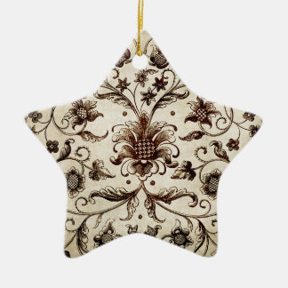 victorian flowers texture christmas ornament