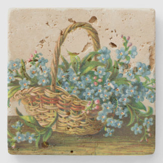Victorian Forget-Me-Not Blossoms Coaster