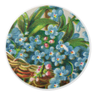 Victorian Forget-Me-Not Blossoms Drawer Knob Pull