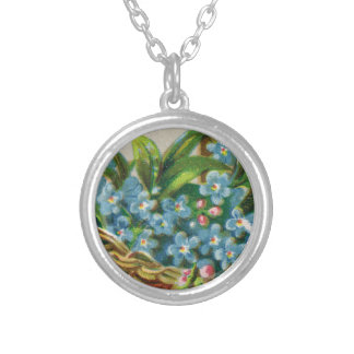Victorian Forget-Me-Not Blossoms Necklace