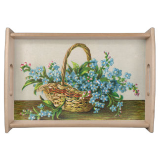 Victorian Forget-Me-Not Blossoms Serving Tray