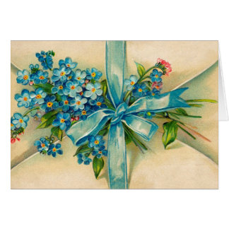 Victorian Forget Me Not Note Card