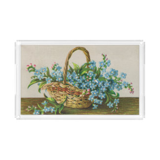 Victorian Forget-Me-Not Vanity Tray