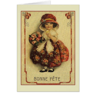 Victorian French Bonne Fête Birthday Card